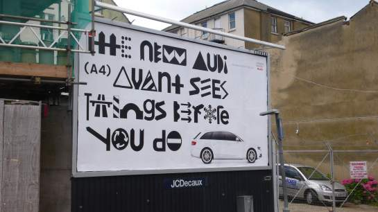 Audi's latest advert in Folkestone - looks somewhat familiar